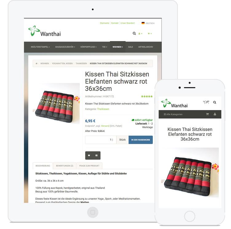Responsive Webdesign für Online-Shop