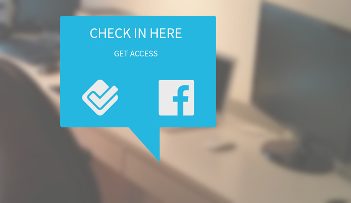 Check in here - get wlan access
