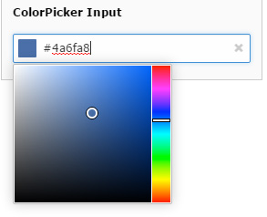 TYPO3 8.1 Colorpicker