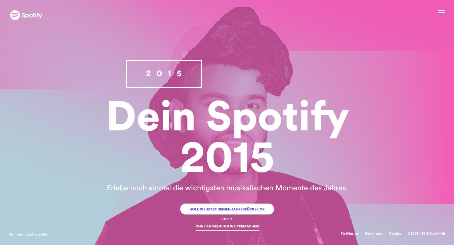 Spotify Microsite