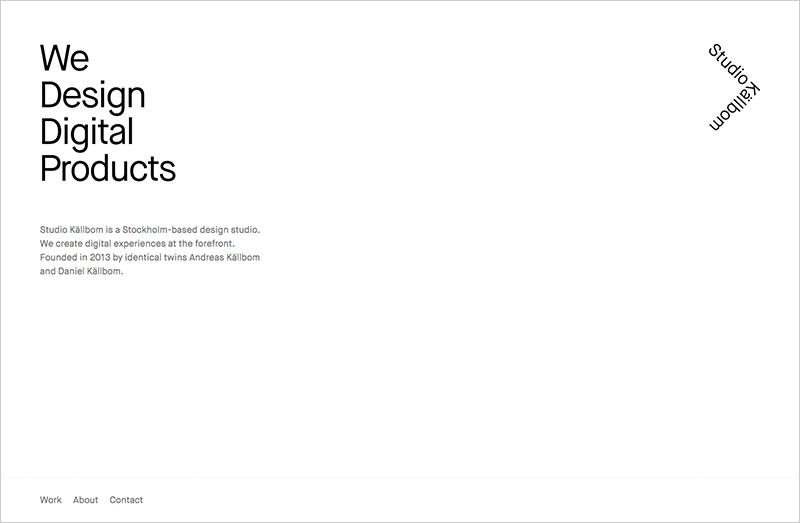 Ultra Minimal Webdesign Beispiel 1