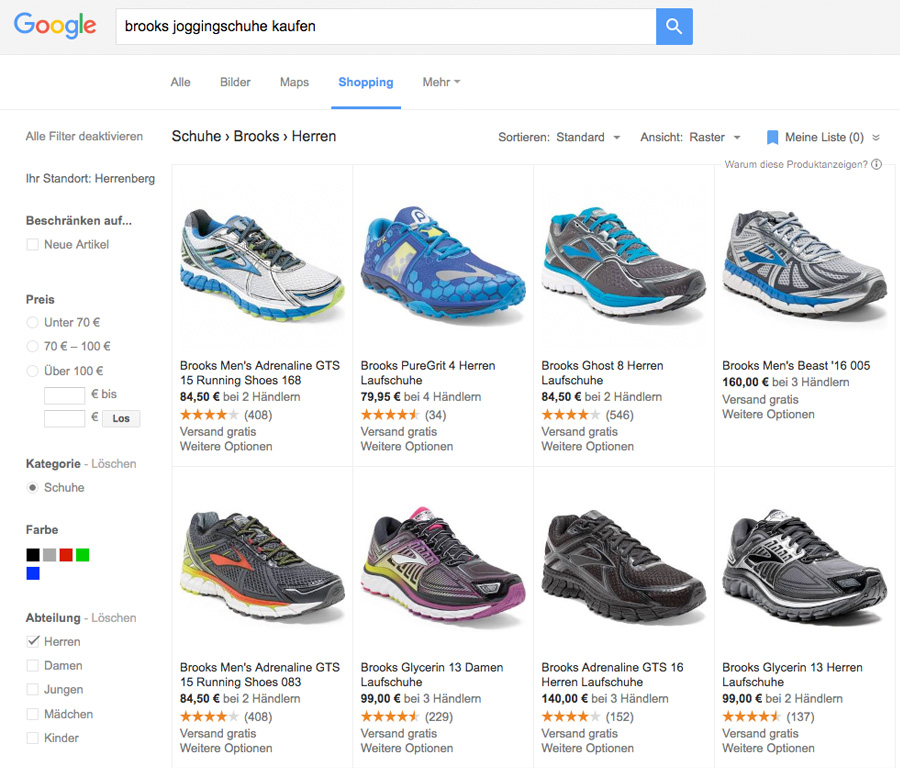 Google Shopping Katalog