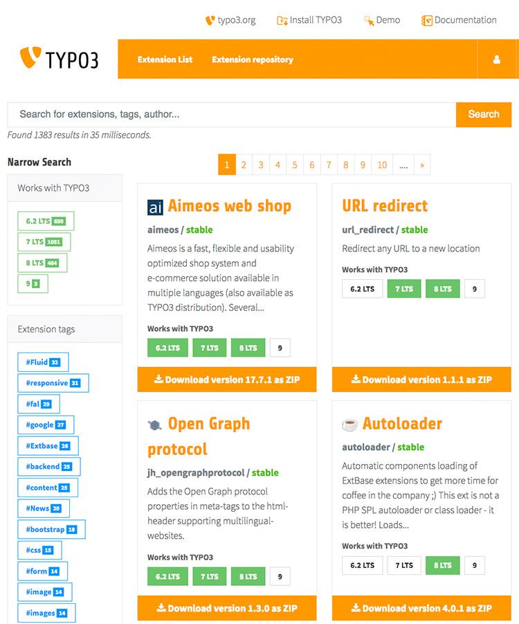 TYPO3 Extension Repository