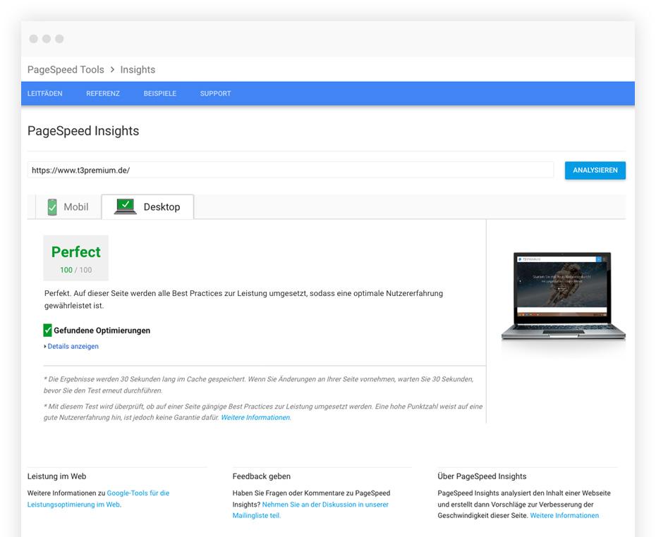 Google PageSpeed Optimierung