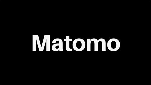 Matomo Logo schwarz