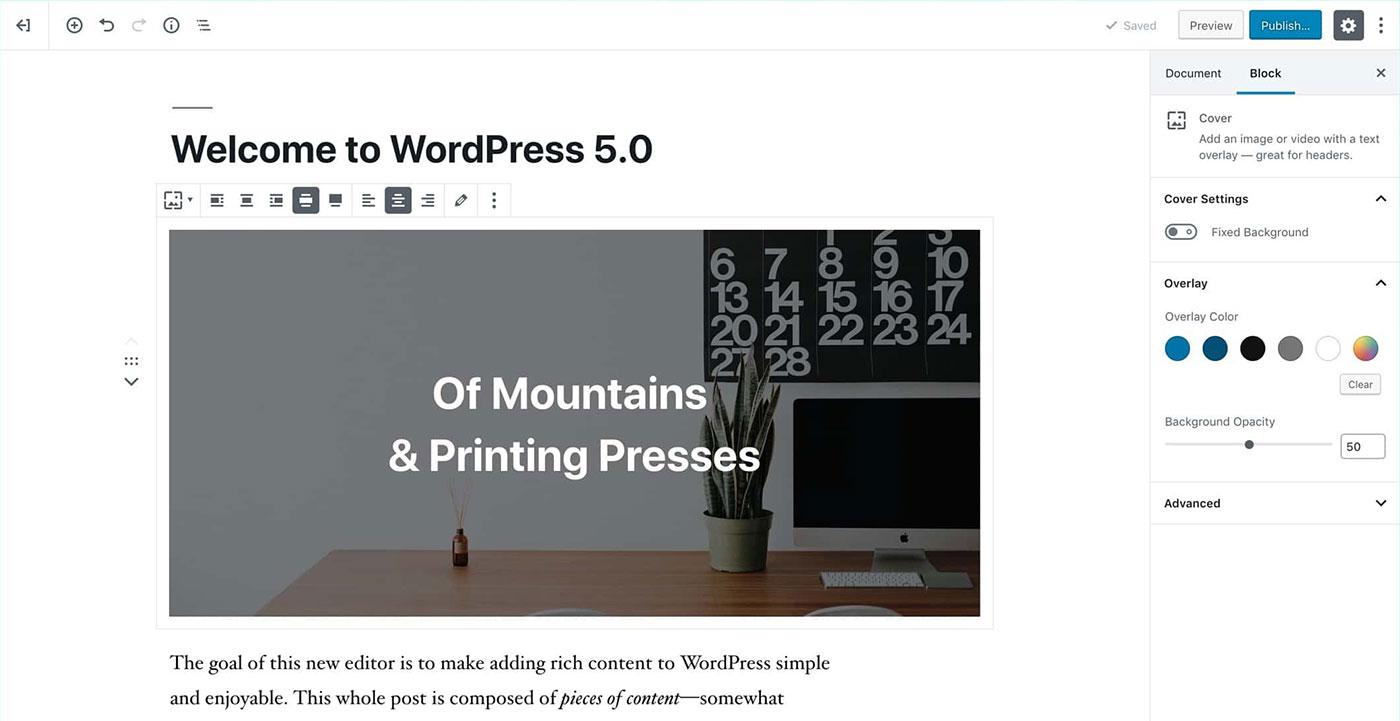 WordPress Gutenberg-Editor