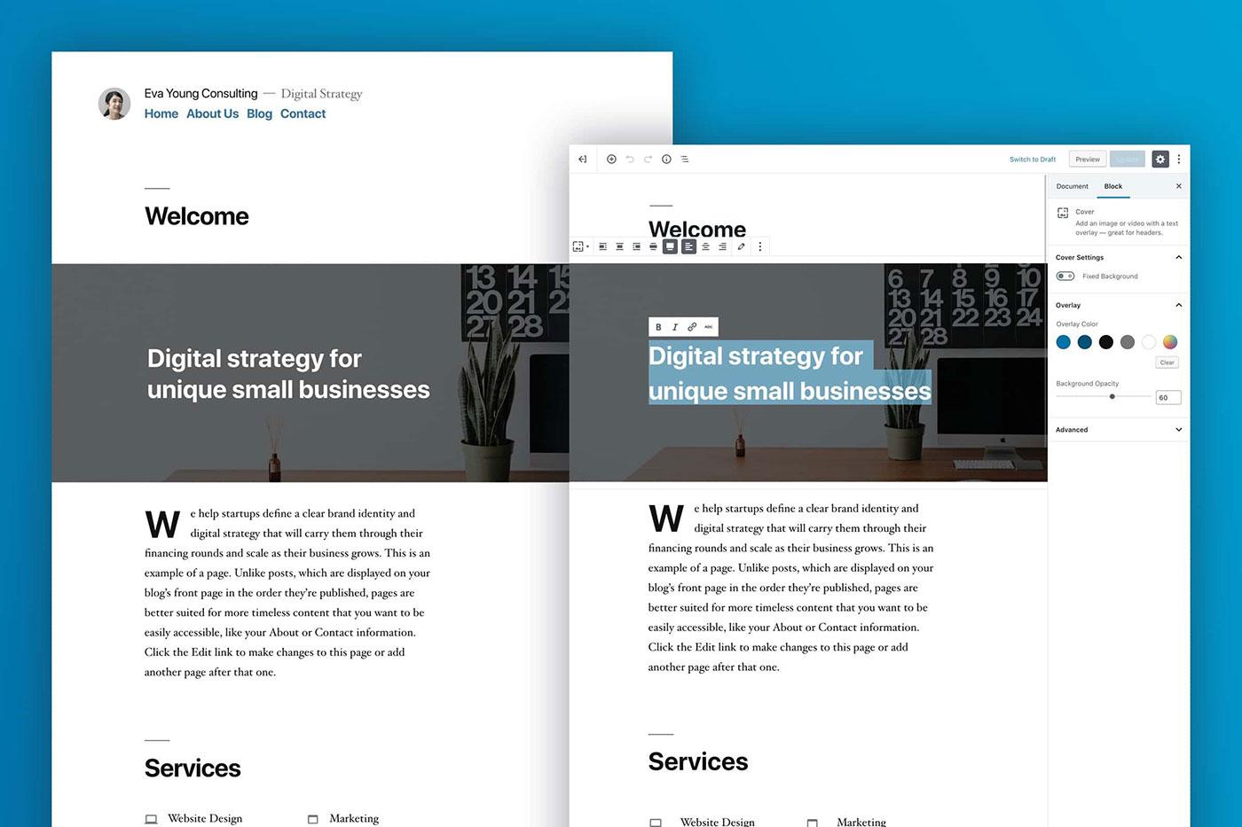 WordPress Theme:Twenty Nineteen