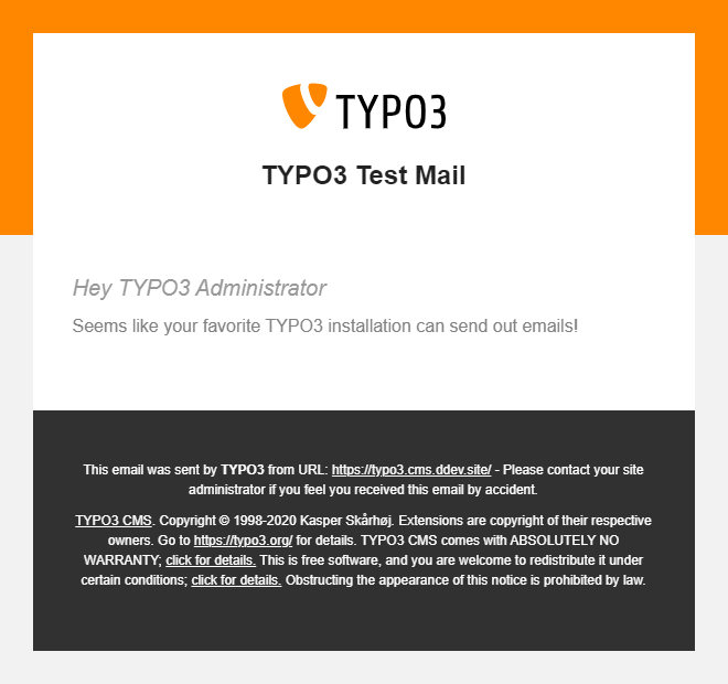 TYPO3 HTML E-Mail Template