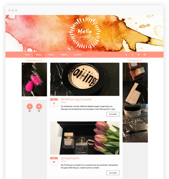 WordPress Lifestyle Blog im Responsive Webdesign